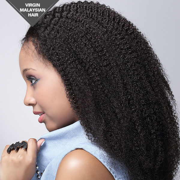 Custom Cheap Black Women Remy Human Hair Full Lace Wig Afro Kinky