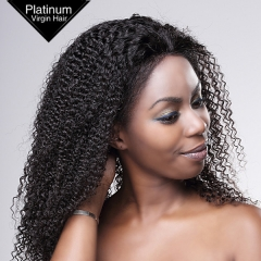 Brazilian Virgin Human Hair Curly Lace Wigs